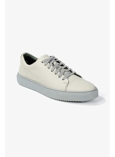 Krähe Corvo Gri Deri Minimal Sneaker Gri